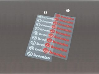 119700:brembo Die Cut Sticker(9枚綴・赤)