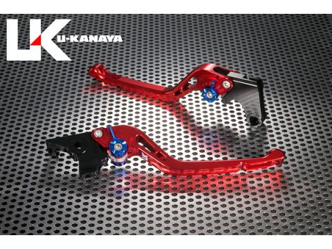 U-KANAYA GP type machined aluminum billet lever (lever Color: Red) Adjustment Adjuster Color: Silver