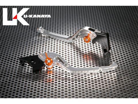 U-KANAYA GP type machined aluminum billet lever (lever Color: Silver) Adjustment Adjuster color: orange
