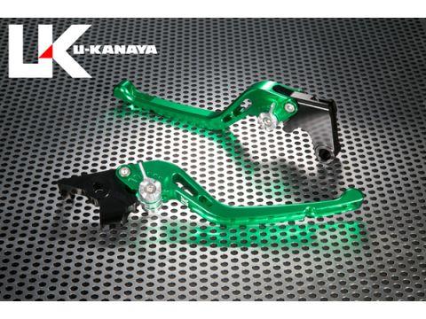 U-KANAYA GP type machined aluminum billet lever (lever color: green) Adjustment Adjuster Color: Red
