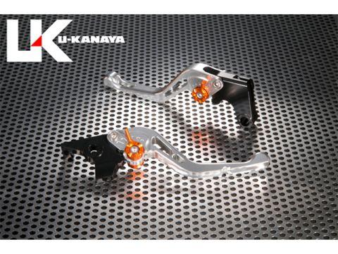 U-KANAYA GP type machined aluminum billet Short lever (lever Color: Silver) Adjustment Adjuster Color: Blue