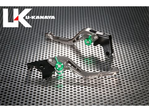 U形金谷GP型加工鋁坯短槓桿(槓桿顏色:鈦)調節調節器顏色:藍