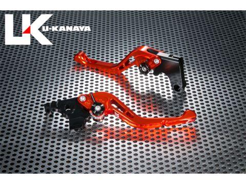 U-KANAYA GP type machined aluminum billet Short lever (lever color: orange) adjustment Adjuster Color: Silver