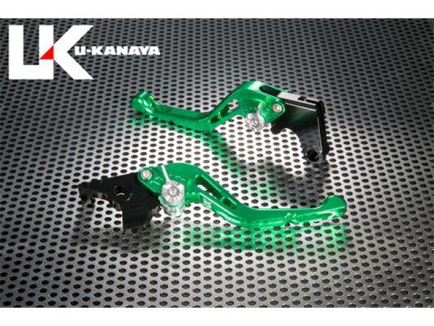 U-KANAYA GP type machined aluminum billet Short lever (lever color: green) Adjustment Adjuster color: orange