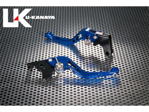 U-KANAYA GP type machined aluminum billet Short lever (lever color: blue) Adjustment Adjuster Color: Silver