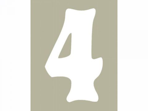 FAST GUY STUFF奧布萊恩人可讀圍兜(白色),#4(3個)