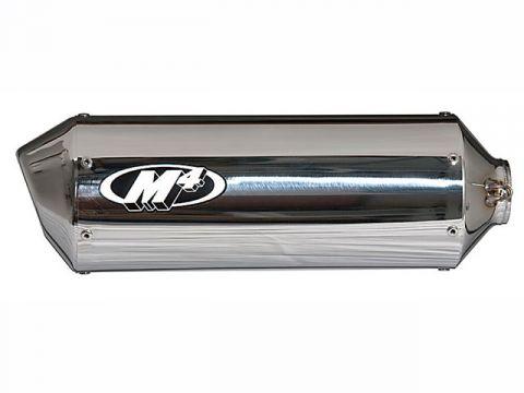M4高性能排氣標準/種族不銹鋼全排氣SU987 *規格:拋光消聲器