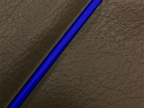 Gurondoman address 110 (EBJ-CE47A) 4-stroke / Suzuki Gurondoman domestic seat cover Chokawa (dark brown / blue piping)