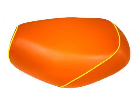 Gurondoman address 110 (EBJ-CE47A) 4-stroke / Suzuki Gurondoman covered domestic seat cover (orange / yellow piping)