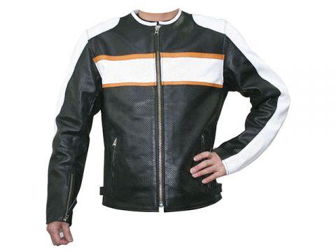 摩托場2018春夏模型MF-LJ017P單皮夾克(黑/白)尺寸:L