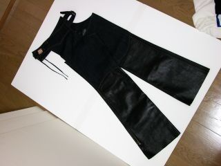 38860:DENIM LEATHER CHAPS CSCH01(インディゴ)