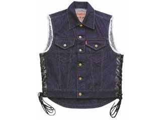 50456:K'S PRODUCT No.6817 BIKER DENIM VEST2(インディゴブルー)