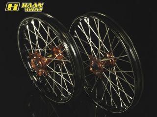 HAAN WHEELS ハーンホイール ホイール本体 フロントオフロードコンプリートホイール F1.60/21インチ カラー:ブラック カラー:ブルー ALL CR