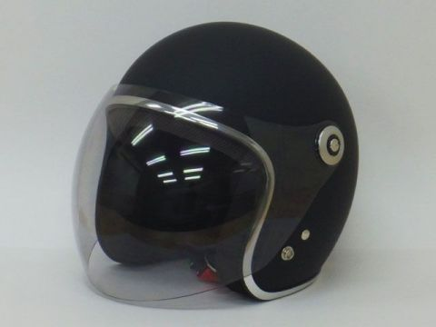 BikeBros BH-2001 bubble shielded Small jet color:. Matt Black Size: M / 57-58cm