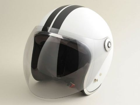 BikeBros BH-2001 bubble shielded Small jet GT Color:. Matt White GT size: less than L / 59-60cm