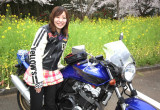 Yukari with ホンダ CB400 SUPER FOUR