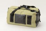キャンプグッズを収納できる容量40L バイクに積載しやすい防水ツーリングバッグ