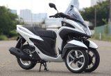 ヤマハ トリシティ125 – 安定感とスポーティーな走りを両立