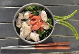 ライダーズレシピ「ササミと水菜のヘルシー梅肉和え」