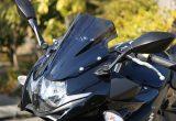 割れに強く抜群の透明度を誇る250ccスポーツモデル用スクリーン