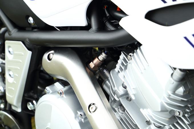 エンジン、タンク、リヤフェンダーなど7つの部分が新しくなったニューセロー250