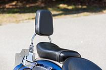 タンデム時の安定性をグッと高めてくれるバックレスト。「子供を後ろに乗せる時にあると助かりますね」。