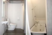 今回取材した部屋は、1Fにトイレ、洗面台、バスルーム等のサニタリーが並ぶ。部屋によって形式は変わるので、アールエイジにご確認を!