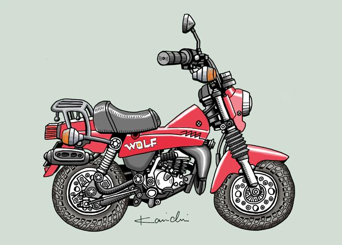 レトロバイク・グラフティ第6回 SUZUKI WOLF50(スズキ ウルフ50)1982年の画像