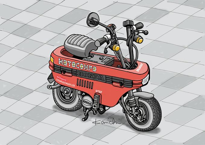 レトロ・バイクグラフティ第8回 HONDA MOTOCOMPO(ホンダ モトコンポ)1981年の画像