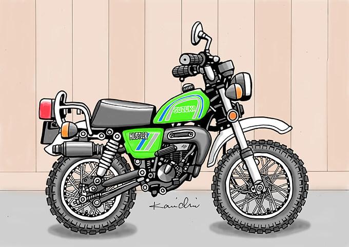 レトロ・バイクグラフティ第14回 SUZUKI HUSTLER TS50(スズキ ハスラー TS50)1979年