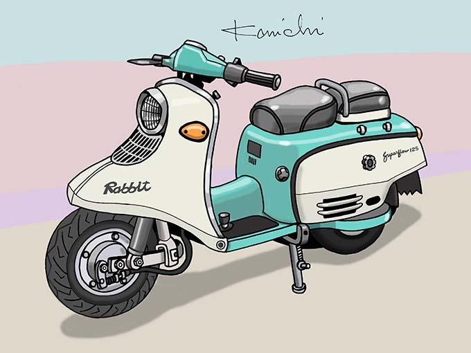 レトロバイク・グラフティ第35回 富士産業(現SUBARU)RABBIT 125(ラビット125) 1947年 メイン画像