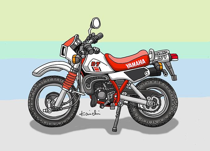 レトロバイク・グラフティ第46回YAMAHA DT50(ヤマハ DT50)1982年 メイン画像