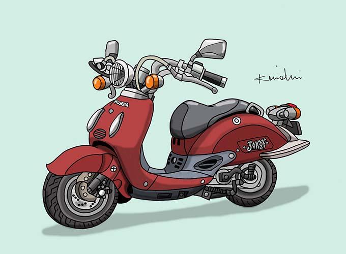 レトロバイク・グラフティ第47回HONDA JOKER 50(ホンダ ジョーカー50)1996年 メイン画像