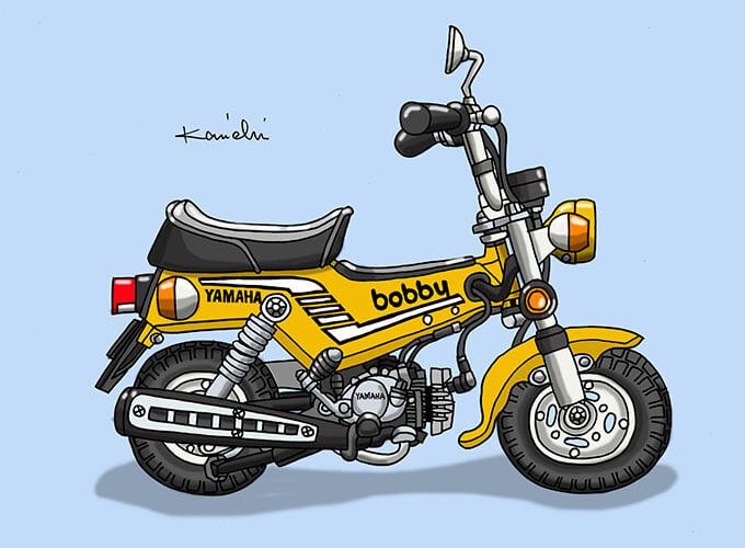 レトロバイク・グラフティ第48回YAMAHA BOBBY(ヤマハ ボビィ)1976年 メイン画像
