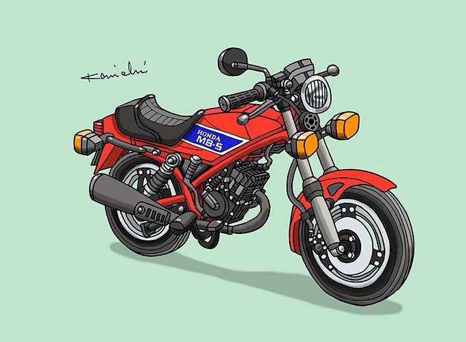 レトロバイク・グラフティ第49回HONDA MB50(ホンダ MB50)1979年 メイン画像