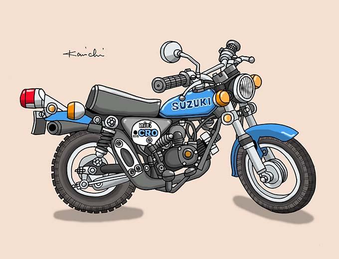 レトロバイク・グラフティ第50回SUZUKI miniCR0 50(スズキ ミニクロ50)1975年 メイン画像