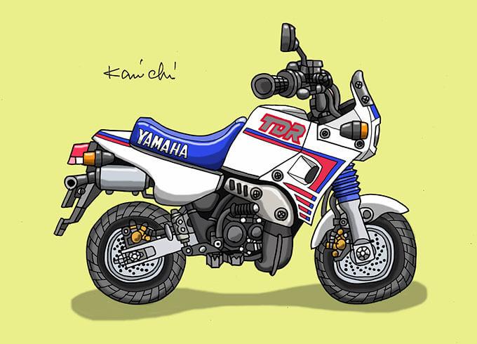 レトロバイク・グラフティ第52回YAMAHA TDR50(ヤマハ TDR50)1988年 メイン画像