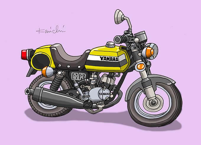 レトロバイク・グラフティ第54回YAMAHA GR50(ヤマハ GR50)1976年 メイン画像