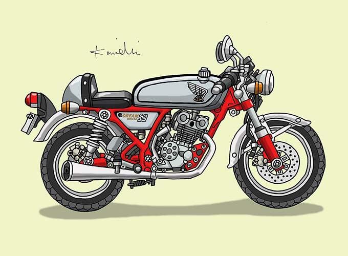 レトロバイク・グラフティ第55回HONDA DREAM50(ホンダ ドリーム50)1997年 メイン画像