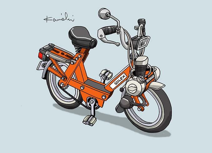 レトロバイク・グラフティ第58回DAIHATSU SOLEX5000(ダイハツ ソレックス5000)1974年 メイン画像
