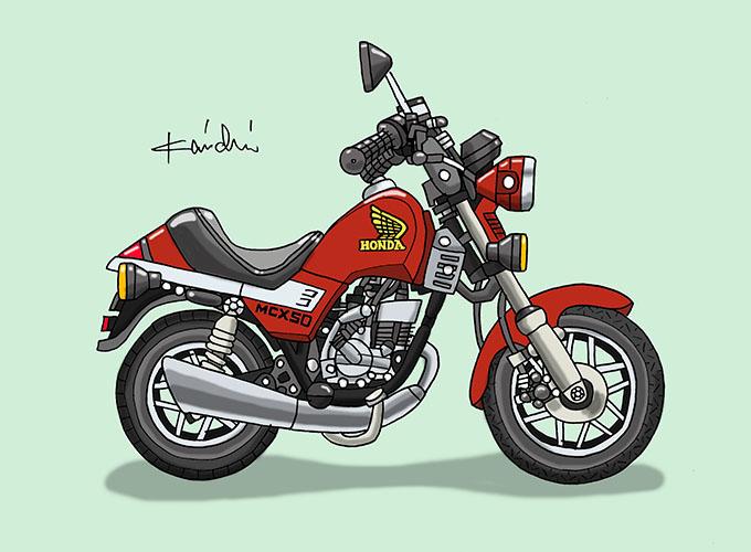 レトロバイク・グラフティ第61回HONDA MCX50(ホンダ MCX50)1982年 メイン画像