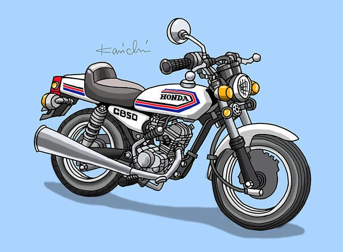 レトロバイク・グラフティ第63回HONDA BENLY CB50(ホンダ ベンリィCB50)1971年 メイン画像