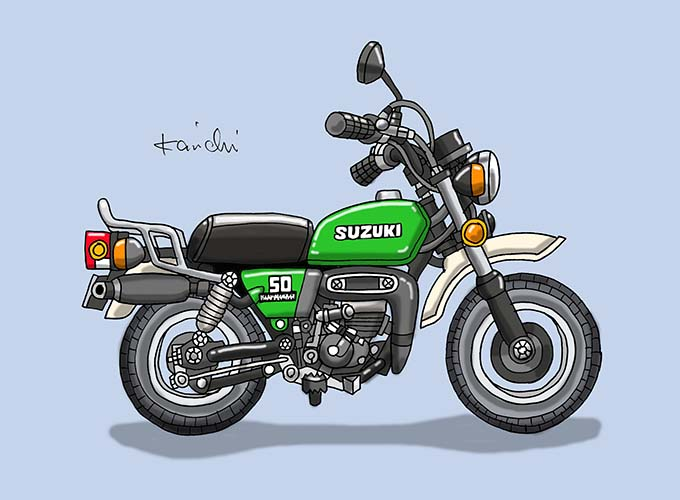 レトロバイク・グラフティ第64回SUZUKI mini Tan(スズキ ミニタン)1977年 メイン画像