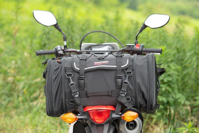 ガルル厳選の使えるツーリングシートバッグ03/GOLDWIN MOTORCYCLE ツーリングリアバッグ53