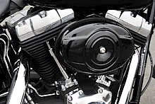 不快な振動を取り除くカウンターバランサーを内蔵したツインカム 96B エンジンを搭載。ブラックパウダーコートが施され、クロームとのコントラストが美しい 1584cc、空冷Vツインだ。