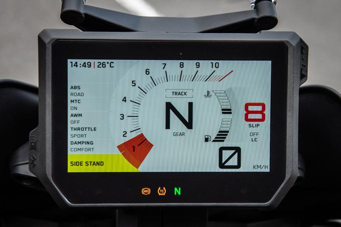【KTM 1290スーパーデュークGT試乗記】とんでもなくスポーティな大陸横断ツアラーだの17画像