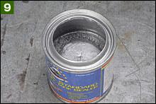 徹底的に残留ライナーを抜き取った結果、何と缶全量に対して7割近く、いゃそれ以上戻ってきたかも知れない。こりゃ効率良い感じですね。想像以上に抜き取ることができるということは、1液なので再利用可能ってことでもありますよね?