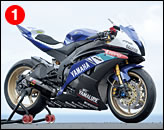 ①ヤマハ・ワールドスーパースポーツによるR6は、まさに準ワークスを思わせる造り込みを受けている