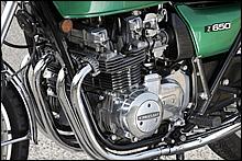 Z1/Z2の初代エンジンとは大きく異なり、プレーンメタルを採用した一体型クランクシャフトや一次駆動にチェーンを採用するなど、コンパクトな設計に重点を置き開発された。