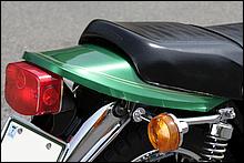 マッハシリーズのGTテールで好評を得たカワサキは、Z1/Z2でスタイリッシュな薄型テールを発表。ザッパーでも同系列デザインを採用した。現在でもファンが多いデザインだ。